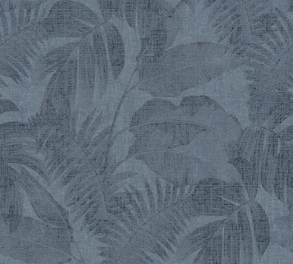 Livingwalls Vliestapete New Walls, Cosy & Relax Dschungel Blau 373965