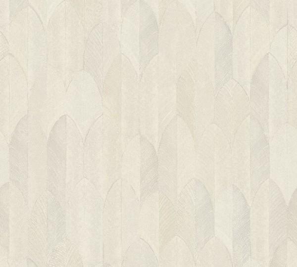 A.S. Création Vliestapete Sumatra, Beige Creme Grau 373731