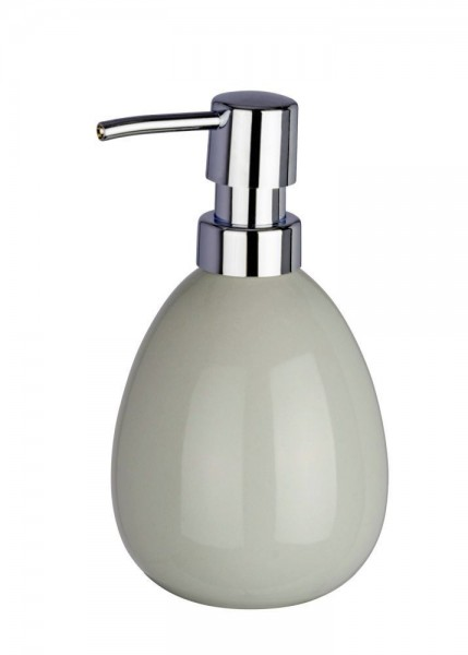 WENKO Seifenspender Polaris Pastel Grey, Keramik, 390 ml