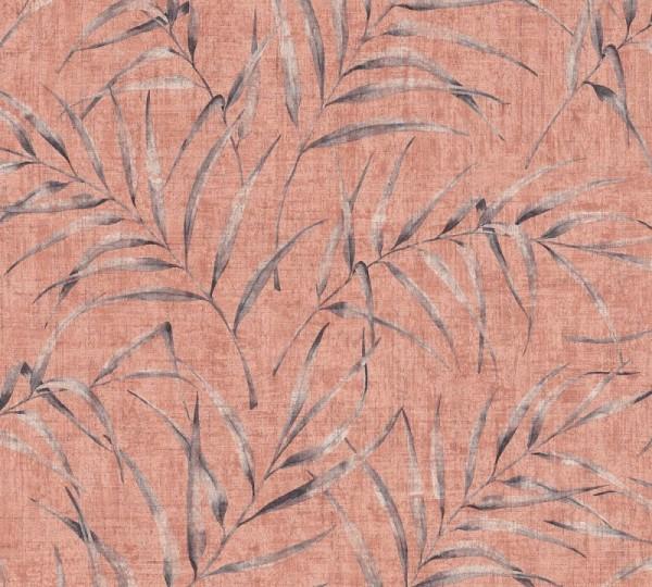 A.S. Création Vliestapete Greenery, Rosa Rot Orange 373354