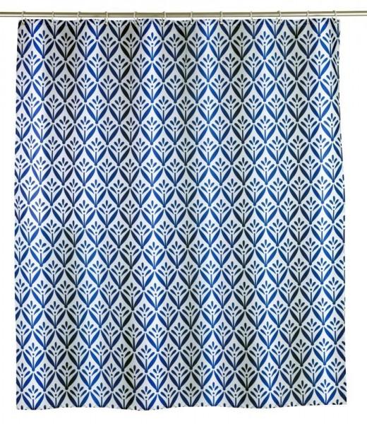 WENKO Duschvorhang Lorca, Polyester, 180 x 200 cm, waschbar