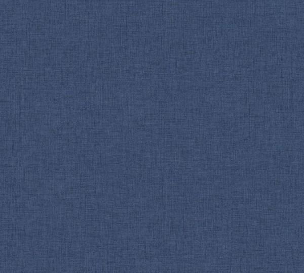 Livingwalls Vliestapete New Walls, Uni Textil Blau 374313