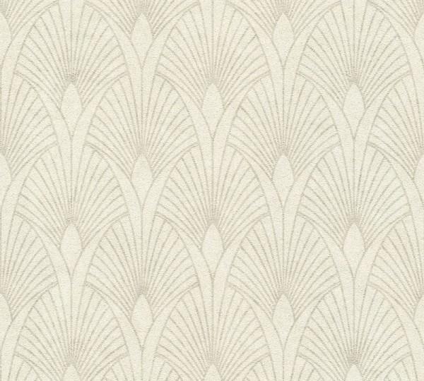 Livingwalls Vliestapete New Walls, 50's Glam Art Deco Weiß 374271