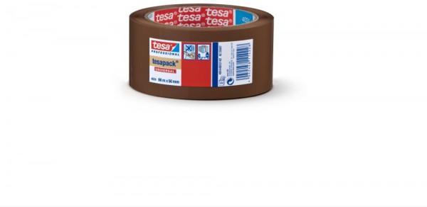 tesa® Packband PP, braun 66 m x 50 mm