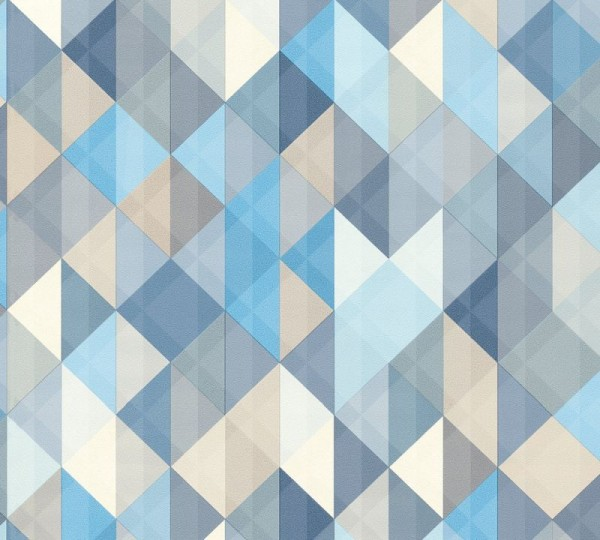 A.S. Création Vliestapete Trendwall, Blau Braun Grau 367863