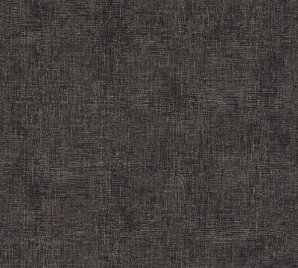 Livingwalls Vliestapete New Walls, Uni Textil Schwarz-Gold 374314