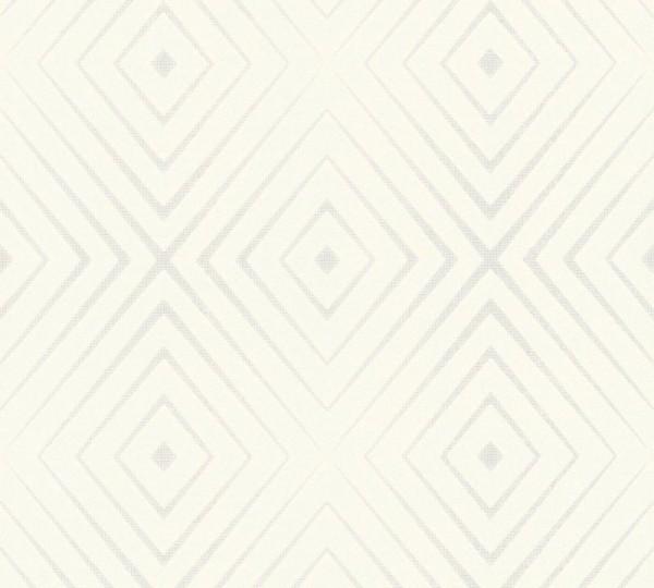 A.S. Création Vliestapete Trendwall, Weiß Creme 367851