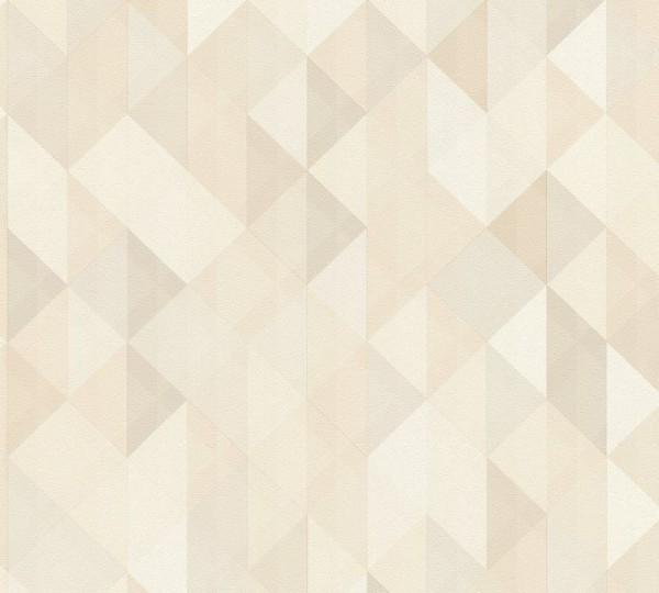 A.S. Création Vliestapete Trendwall, Braun Creme Grau 367861
