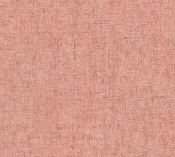 A.S. Création Vliestapete Greenery, Uni Rosa Orange Rot 373343