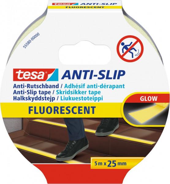 tesa® Anti Rutschband fluoreszierend 5 m x 25 mm