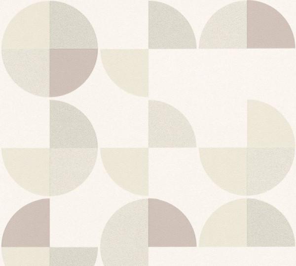 A.S. Création Vliestapete Trendwall, Weiß Grau Beige 367703