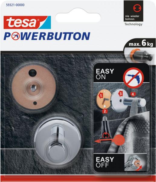 tesa® Powerbutton® Haken Universal Medium Blister