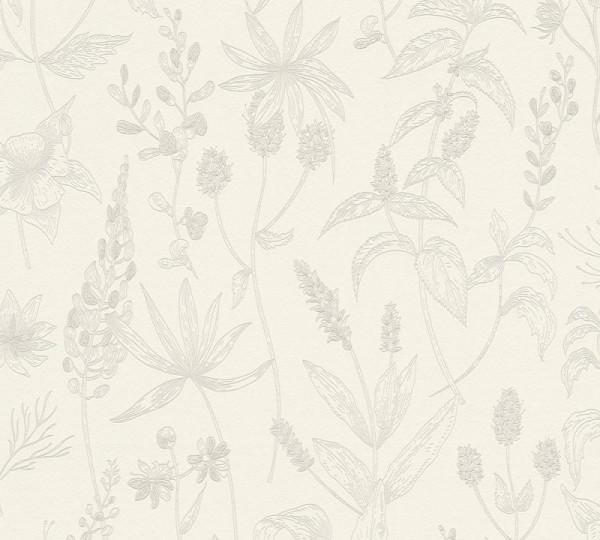 A.S. Création Vliestapete Trendwall, Beige Metallic Weiß 373631