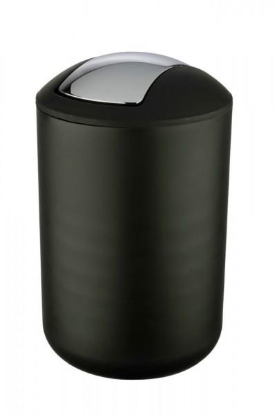 WENKO Schwingdeckeleimer Brasil Schwarz L, 6,5 Liter