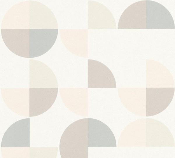 A.S. Création Vliestapete Trendwall, Weiß Braun Grau 367702