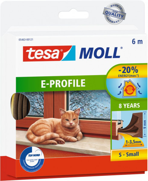tesamoll® E-Profil für Spalten von 1-3,5 mm