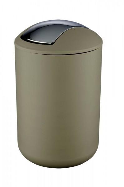 WENKO Schwingdeckeleimer Brasil Taupe L, 6,5 Liter