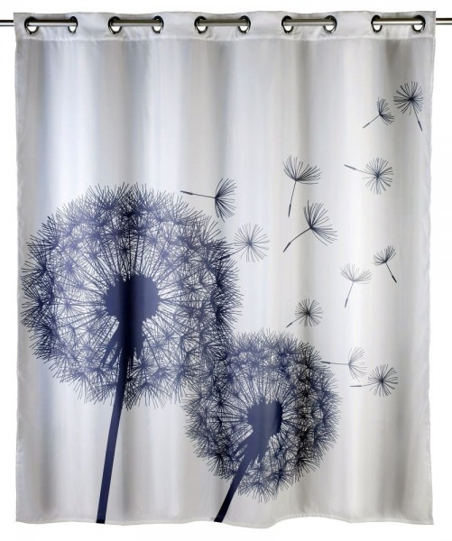 WENKO Anti-Schimmel Duschvorhang Astera Flex, Polyester, 180 x 200 cm, waschbar