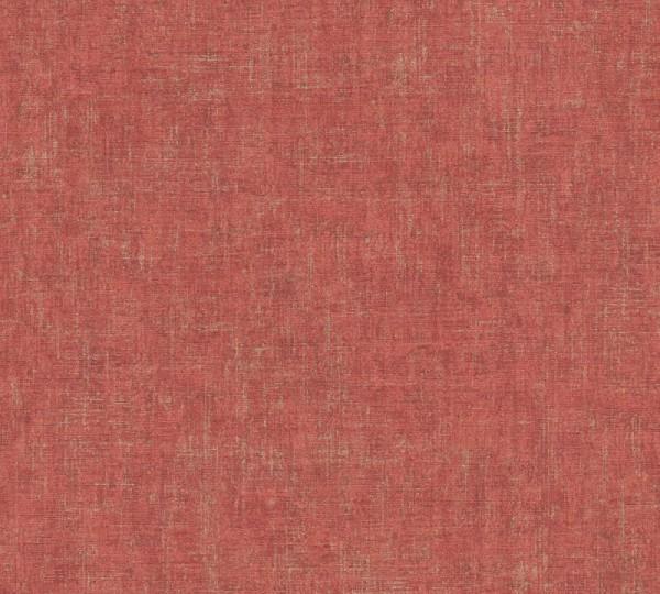 A.S. Création Vliestapete Greenery, Uni Metallic Rot 322621