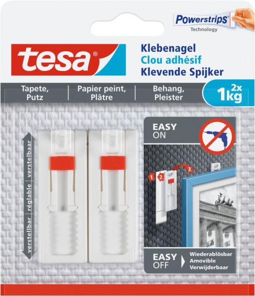 tesa® Klebenagel verstellbar, Tapete & Putz