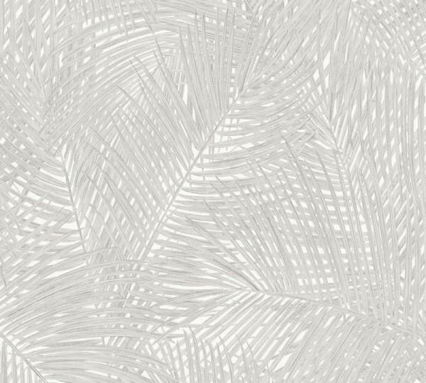 A.S. Création Vliestapete Sumatra, Grau Weiß 373713