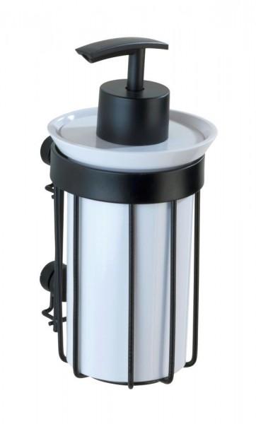 WENKO Seifenspender Classic Plus Black 185 ml, mit hochwertigem Rostschutz