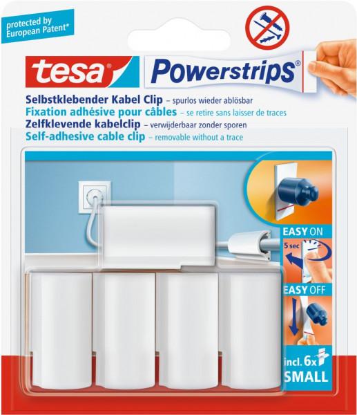 tesa® Powerstrips® Kabel-Clip, 5 Stück