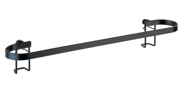 WENKO Handtuchstange Classic Plus Black mit hochwertigem Rostschutz
