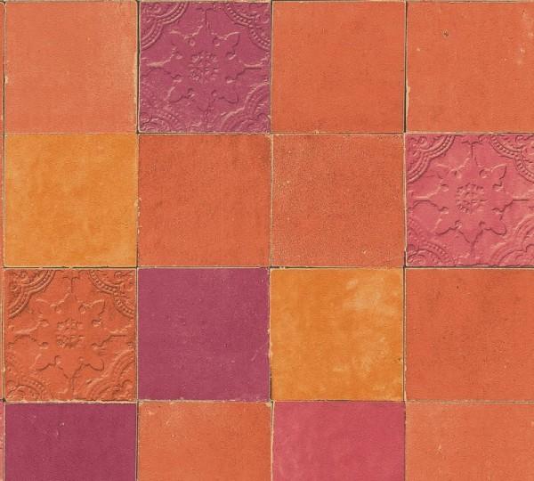 Livingwalls Vliestapete New Walls, Finca Living Fliese Terra 374065