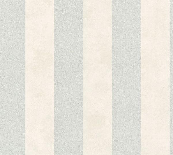 Livingwalls Vliestapete Trendwall, Grau Metallic Weiß 372712
