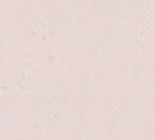 A.S. Création Vliestapete Trendwall, Metallic Rosa Weiß 373633