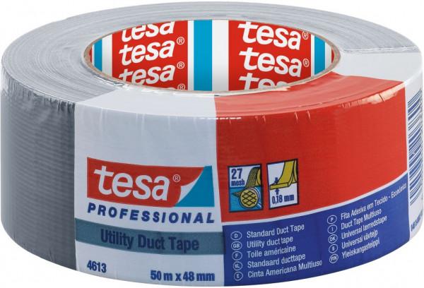tesa® Standard Steinband, silber 50 m x 48 mm
