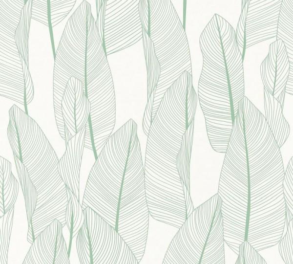 A.S. Création Vliestapete Exotic Life, Grün Weiß 364971