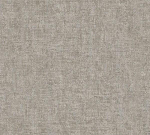 A.S. Création Vliestapete Greenery, Uni Grau Braun Metallic 322616