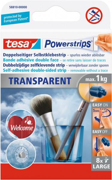 tesa® Powerstrips® Klebestrip transparent Large 8 Strips