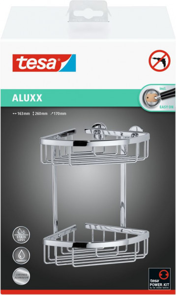 tesa® ALUXX Eckablagekorb zweistöckig
