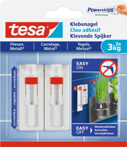 tesa® Klebenagel verstellbar, Fliesen