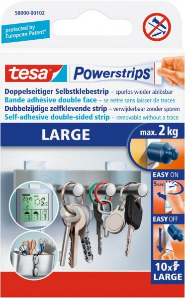 tesa® Powerstrips® Klebestrip Large, weiß, 10 Strips