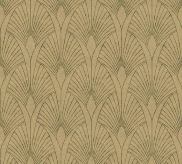 Livingwalls Vliestapete New Walls, 50's Glam Art Deco Gold 374272