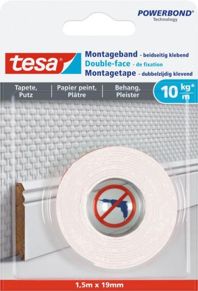 tesa® Montageband Tapete & Putz, 10 kg
