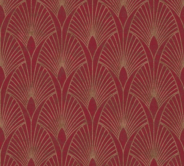 Livingwalls Vliestapete New Walls, 50's Glam Art Deco Rot 374274