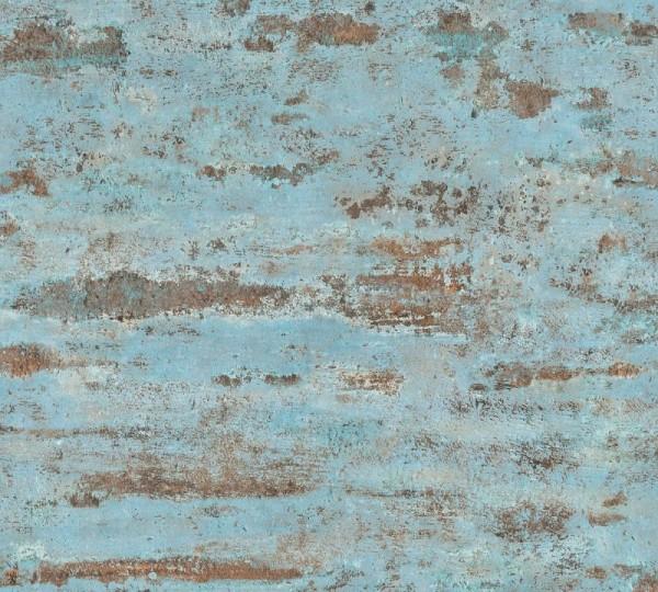 A.S. Création Vliestapete Neue Bude 2.0 Ed. II, Used Ziegel Blau 374153