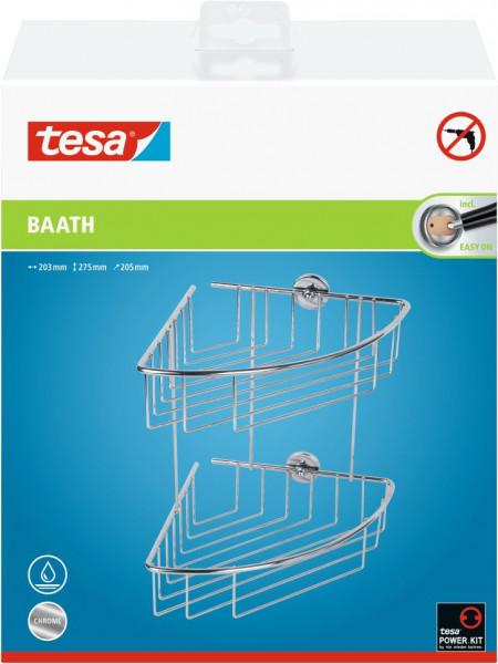 tesa® baath plus Eckablagekorb zweistöckig