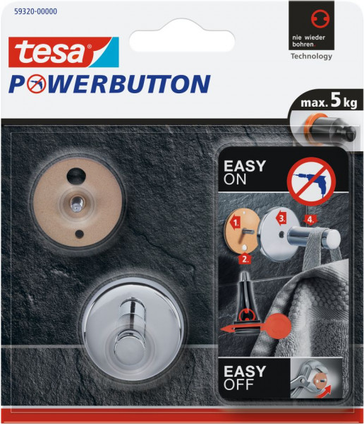 tesa® Powerbutton® Haken Universal Small Blister