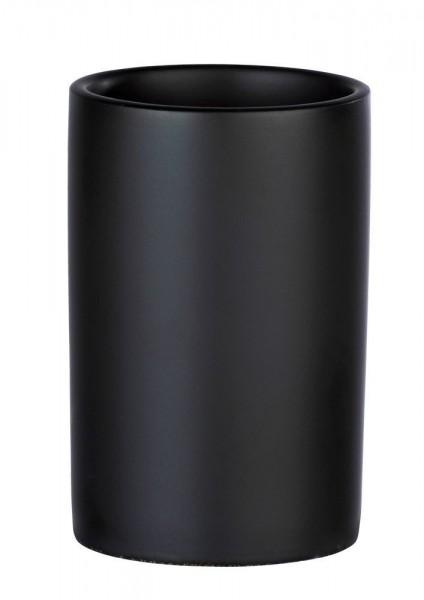 WENKO Zahnputzbecher Polaris Grau matt, Keramik