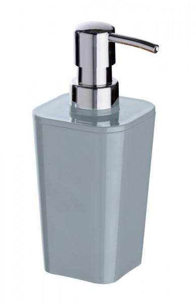 WENKO Seifenspender Candy Grey, aus hochwertigem, schwerem Kunststoff, ca. 330 ml