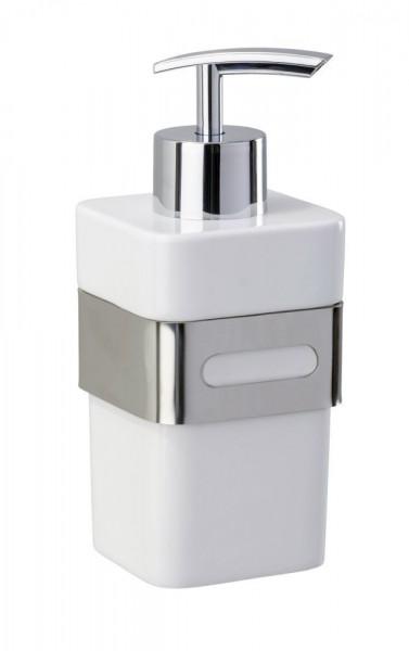 WENKO Seifenspender Premium Plus, 340 ml, Edelstahl