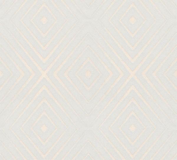 A.S. Création Vliestapete Trendwall, Grau Creme 367854