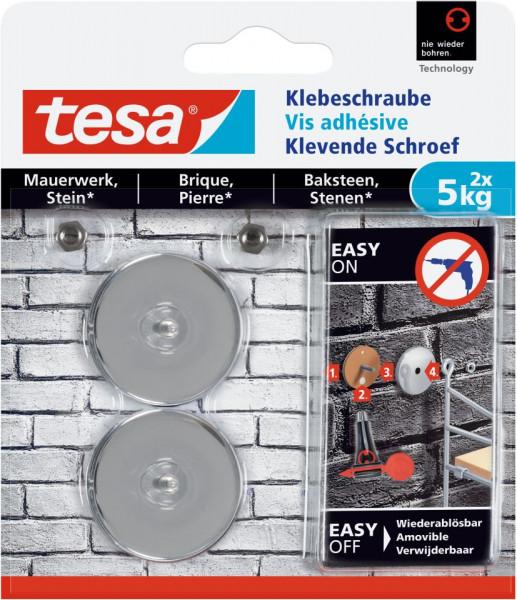tesa® Klebeschraube rund, Mauerwerk, 2 x 5 kg
