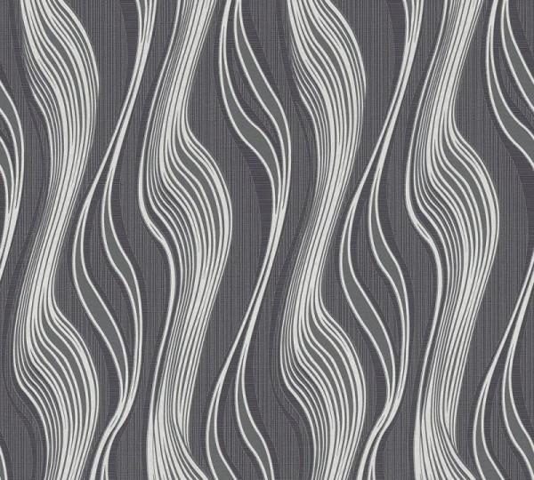 A.S. Création Vliestapete Trendwall, Grau Metallic Schwarz 371416